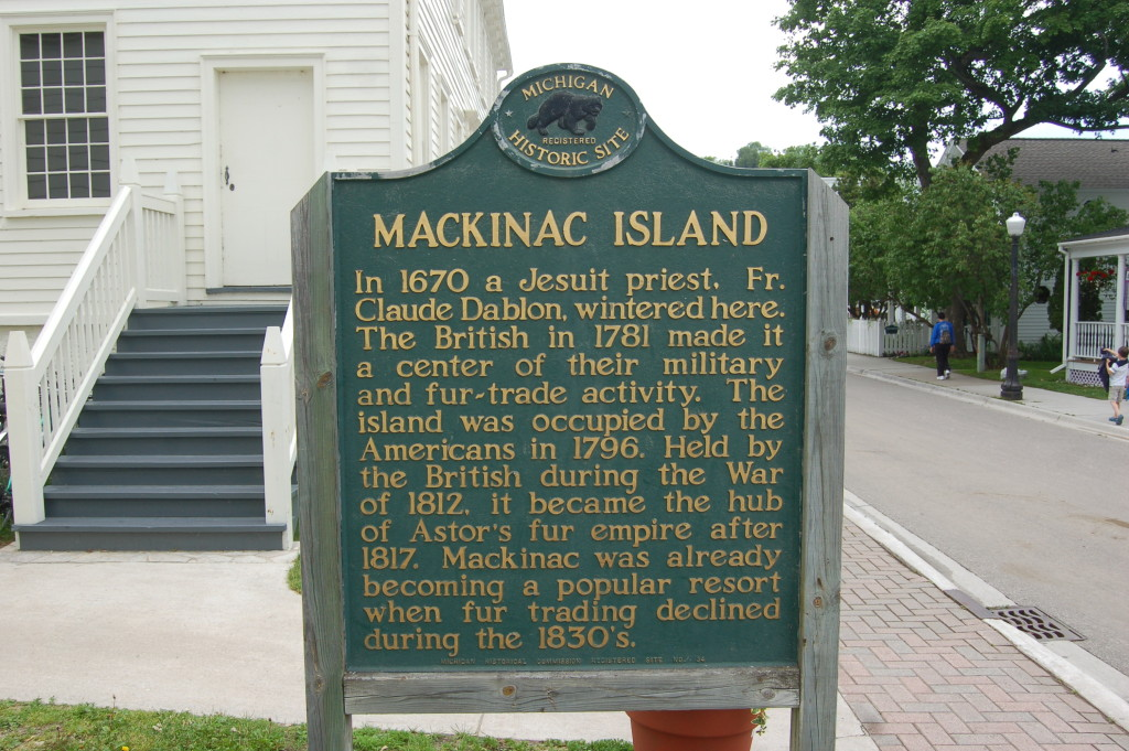 Mackinac Island Historical Marker Michigan
