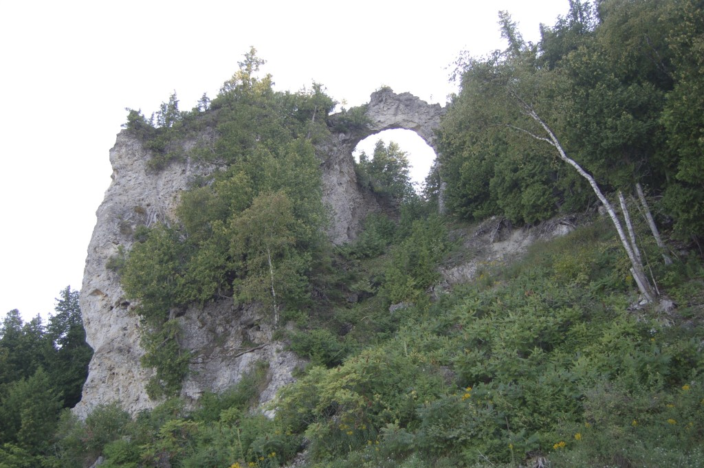 Mackinac Island Michigan Arch Rock From Below