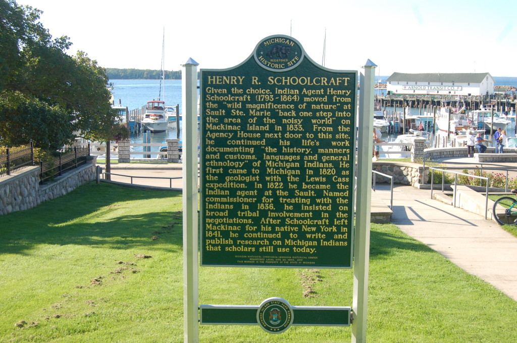 Mackinac Island Schoolcraft Marker Michigan