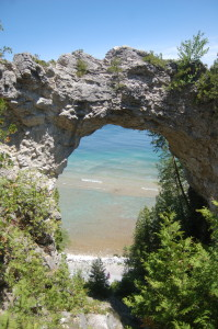 Mackinac Island VERTICAL Arch Rock