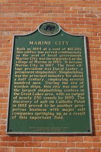 Marine City Historical Marker Michigan