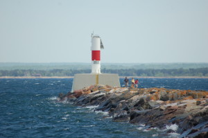 Marquette Breakwater Light Close Lake Superior
