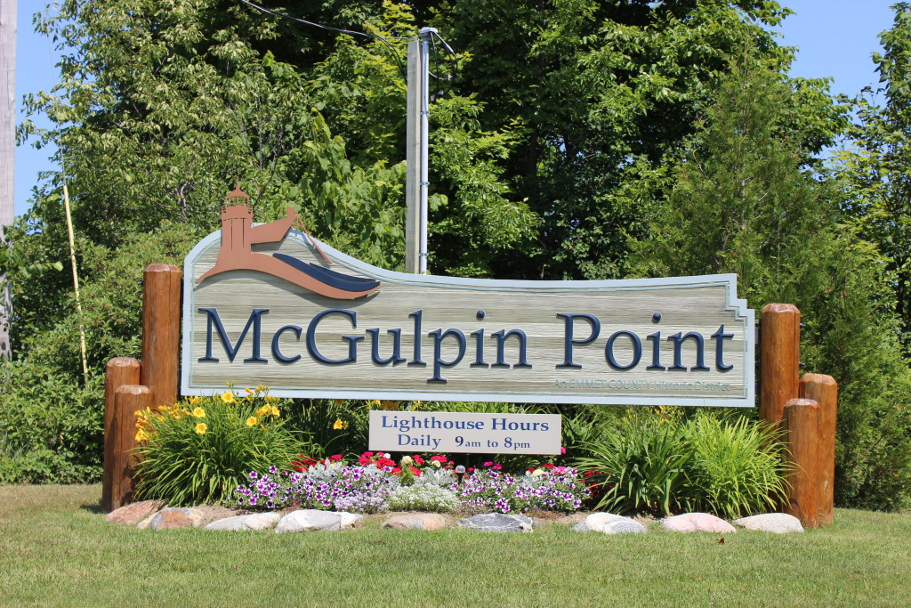 McGulpin Point Lighthouse Entrance Sign Mackinaw