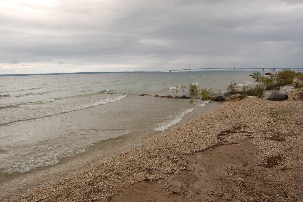 McGulpin Point Lighthouse Lake Michigan Shoreline