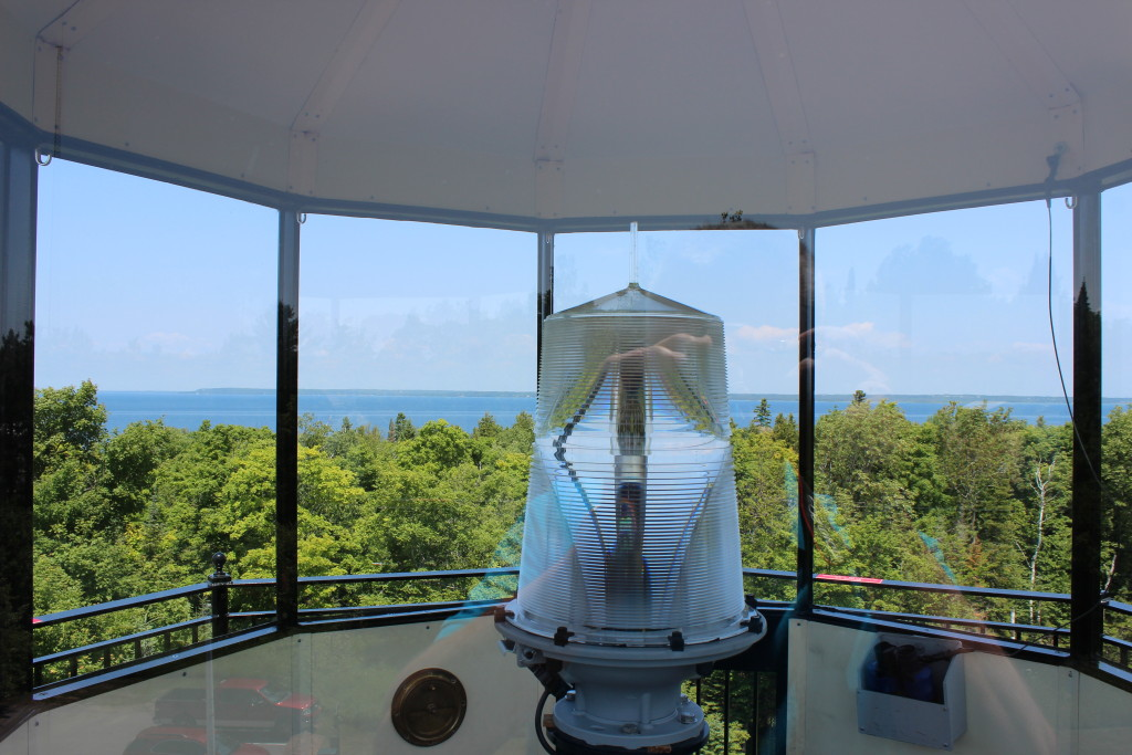 McGulpin Point Lighthouse Lantern Room Michigan