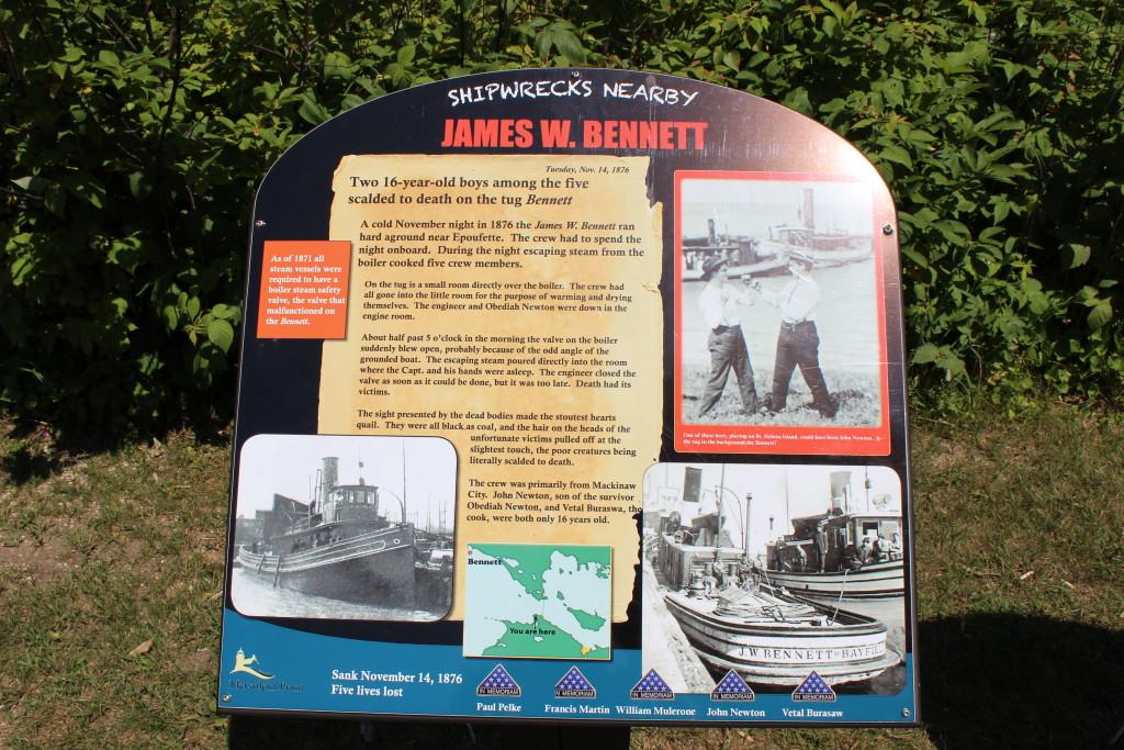 McGulpin Point Lighthouse Lewis Bennett Shipwreck