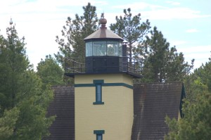 Mendota Lighthouse Bete Grise Michigan Tower Close Up