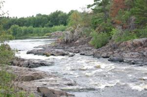 Pemene Falls Downstream View Michigan Wisconsin