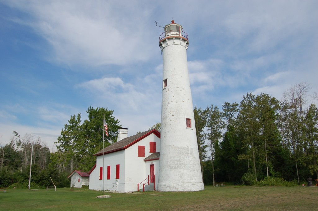 Sturgeon Point Lighthouse Lake Huron Michigan
