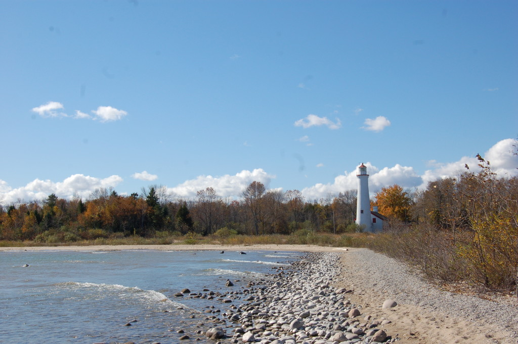 Sturgeon Point Lighthouse Rocky Shoreline