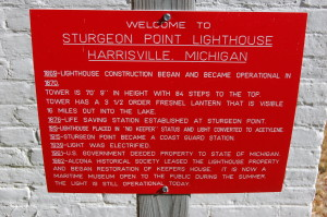 Sturgeon Point Lighthouse Timeline Plaque