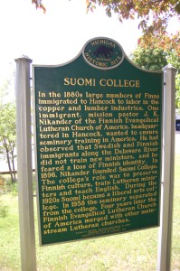 Suomi College Marker Michigan History