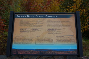 Thomas Rock Scenic Overlook Information Sign Marquette