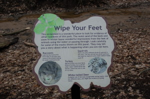 Lepard Nature Preserve Animal Tracks Sign Kent County Parks
