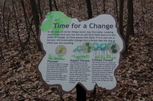 Lepard Nature Preserve Information Education Sign Caledonia MI