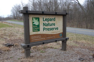 Lepard Nature Preserve Sign Caledonia Michigan