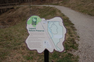 Lepard Nature Preserve Trail Map Entrance KEnt County