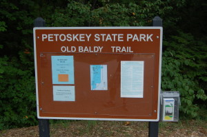Petoskey State Park Old Baldy Trail Sign