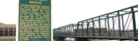 Michigan Roadside Attractions: Sixth Street Bridge, Grand Rapids