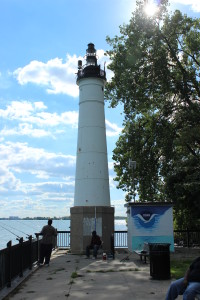 Windmill Point Light Detroit Michigan Top Post Photo