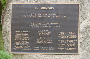 Bath Michigan Memorial Plaque School Disaster
