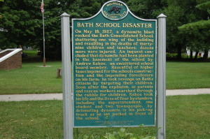 Bath School Disaster Michigan Historical Marker