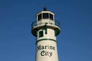 Peche Island Rear Range Light Feature Photo Marine City