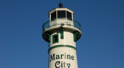 Peche Island Rear Range Light, Marine City