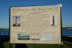 Peche Island Rear Range Light Historical Information Marine City