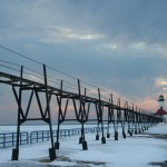 St. Joseph Pier Lights, Lake Michigan