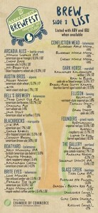 Barry County Brewfest Beer List