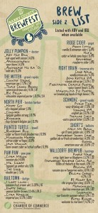 Barry County Brewfest Beer List 2