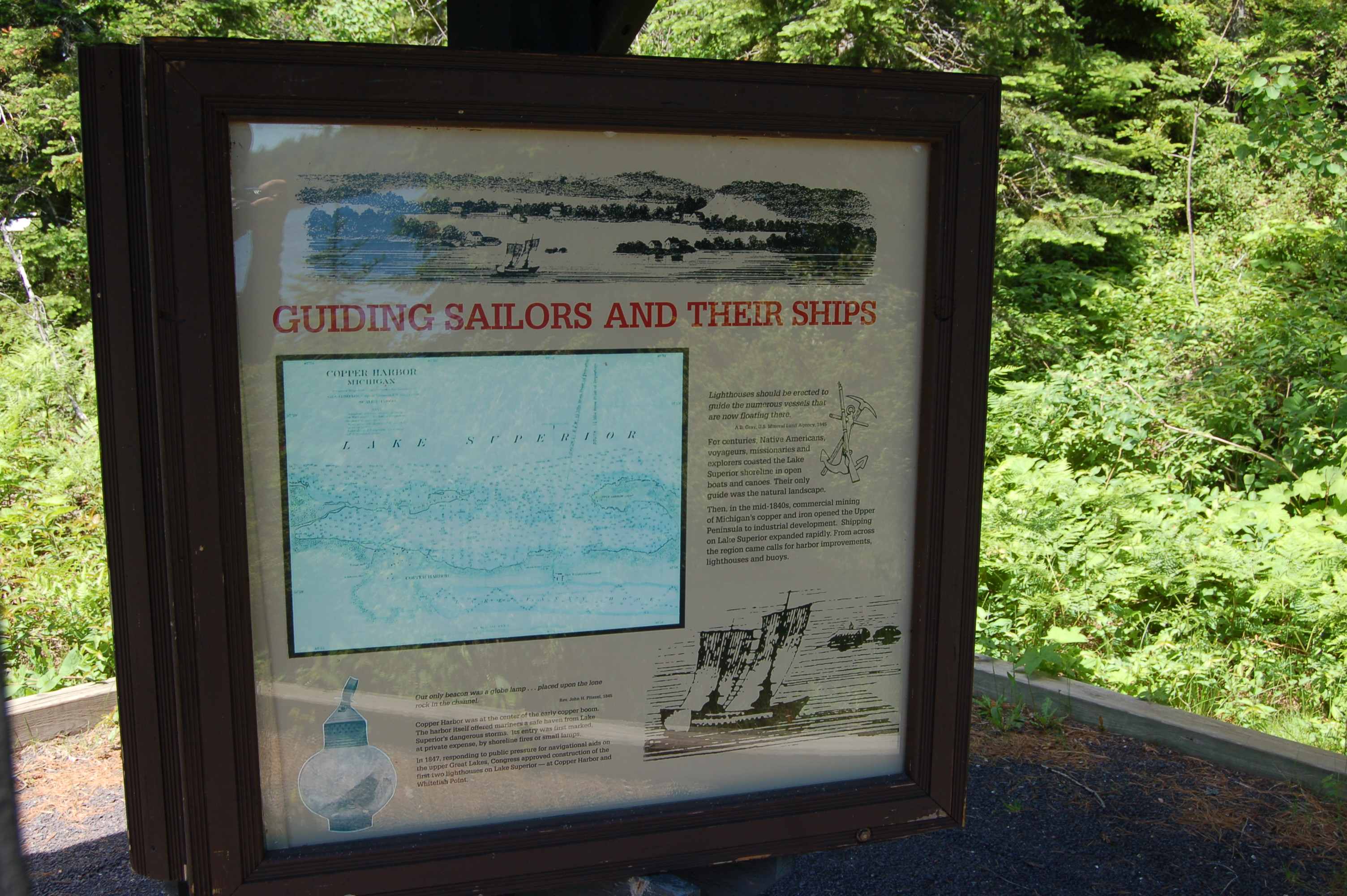 Copper Harbor Lighthouse Guiding Sailors Hard Work
