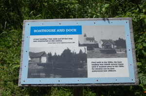 Copper Harbor Lighthouse History Plaque