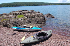 Copper Harbor Lighthouse Lake Superior Kayak