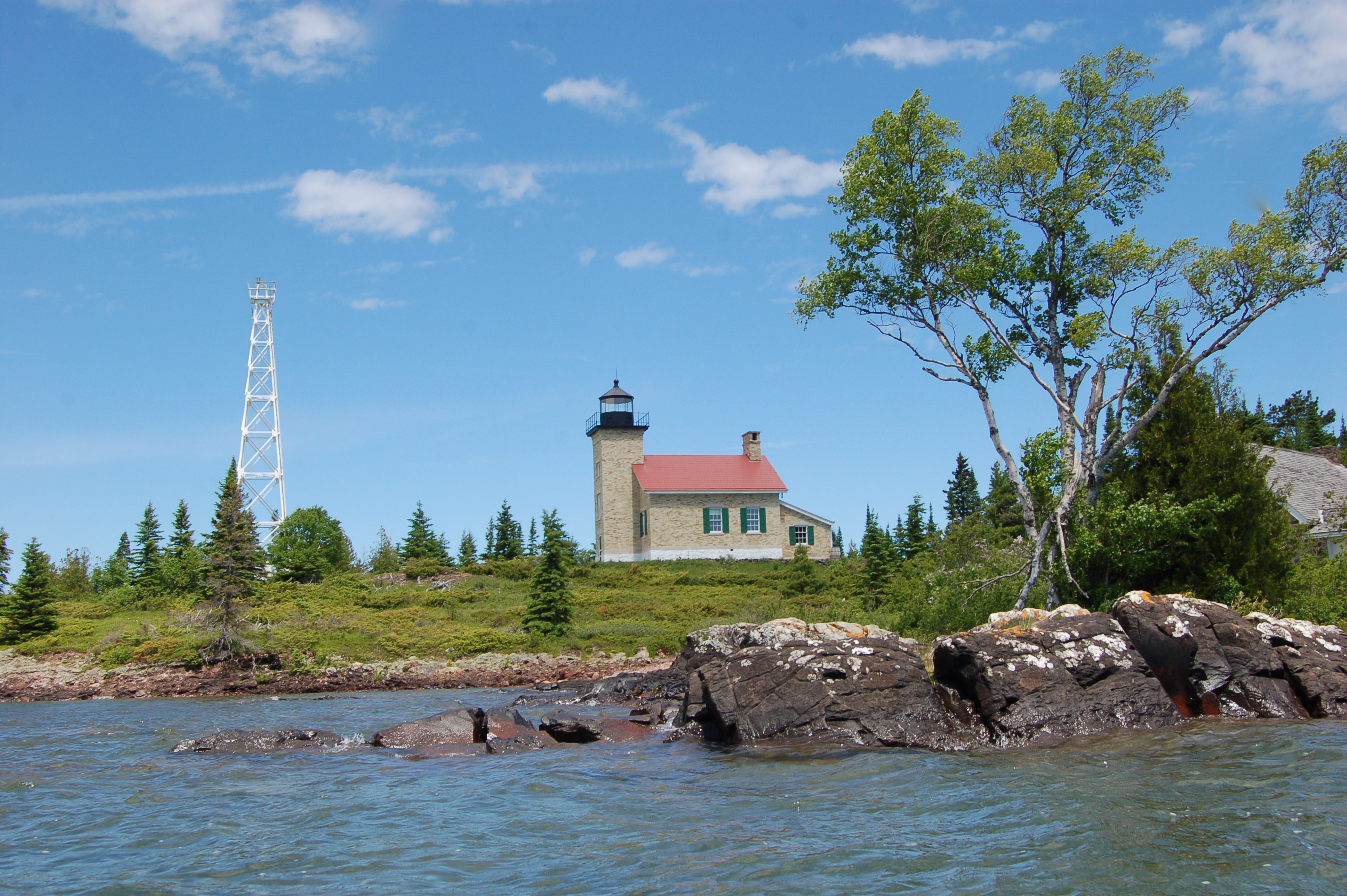 Copper Harbor Lighthouse Lake Superior Michigan
