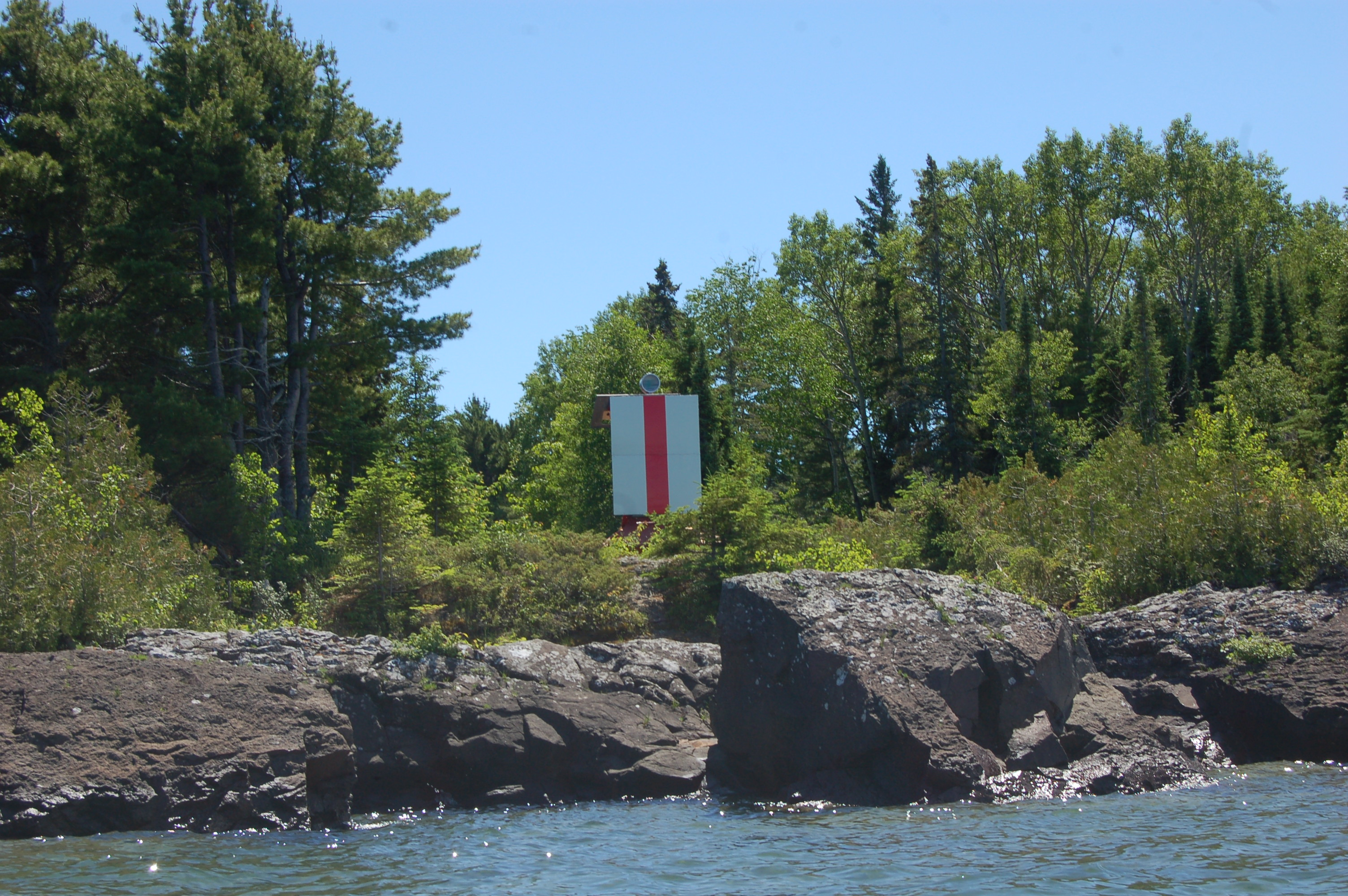Copper Harbor Lighthouse Range Light From Water