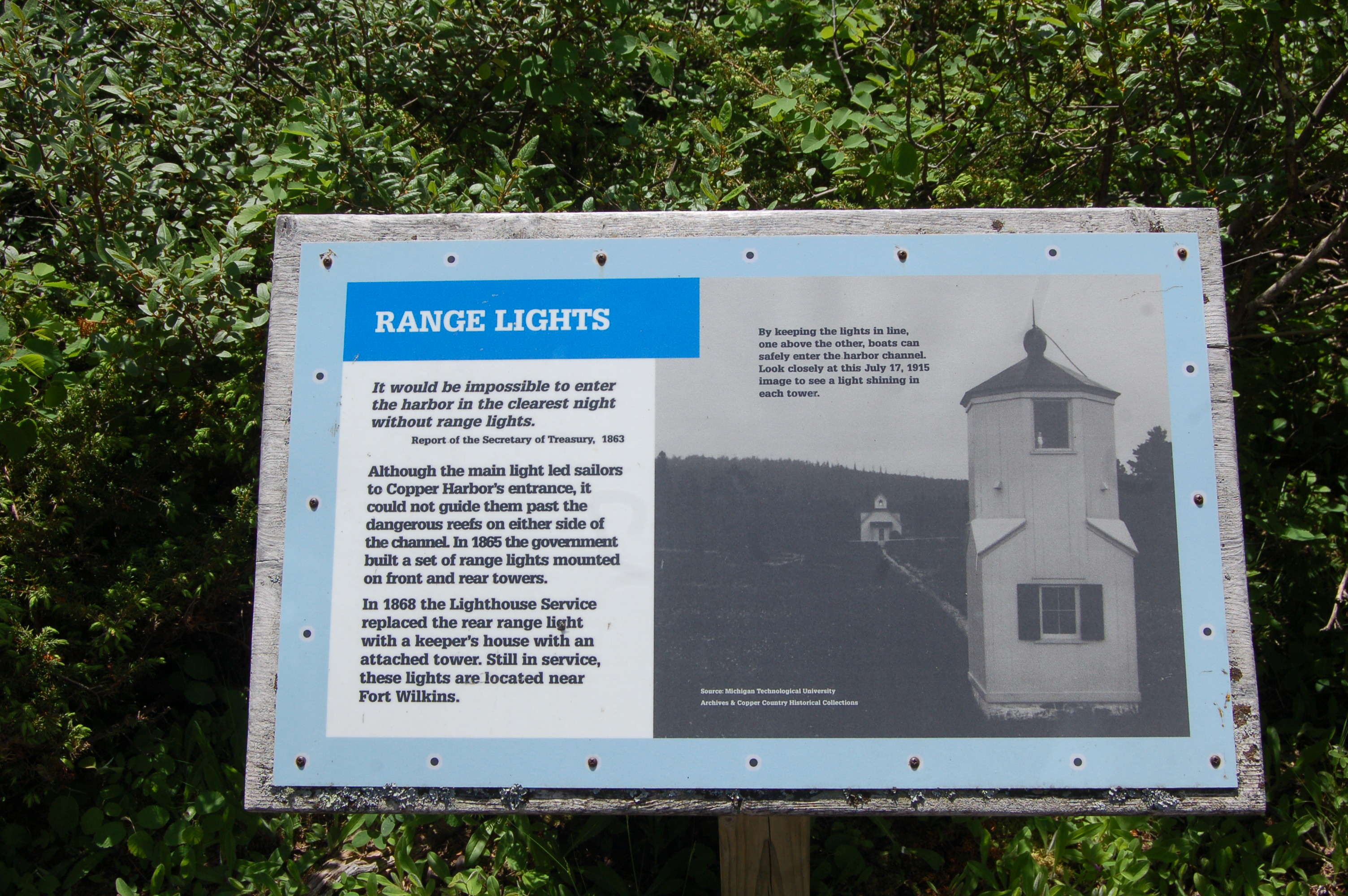 Copper Harbor Lighthouse Range Lights