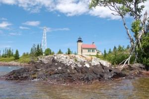 Copper Harbor Lighthouse Rocky Shoreline