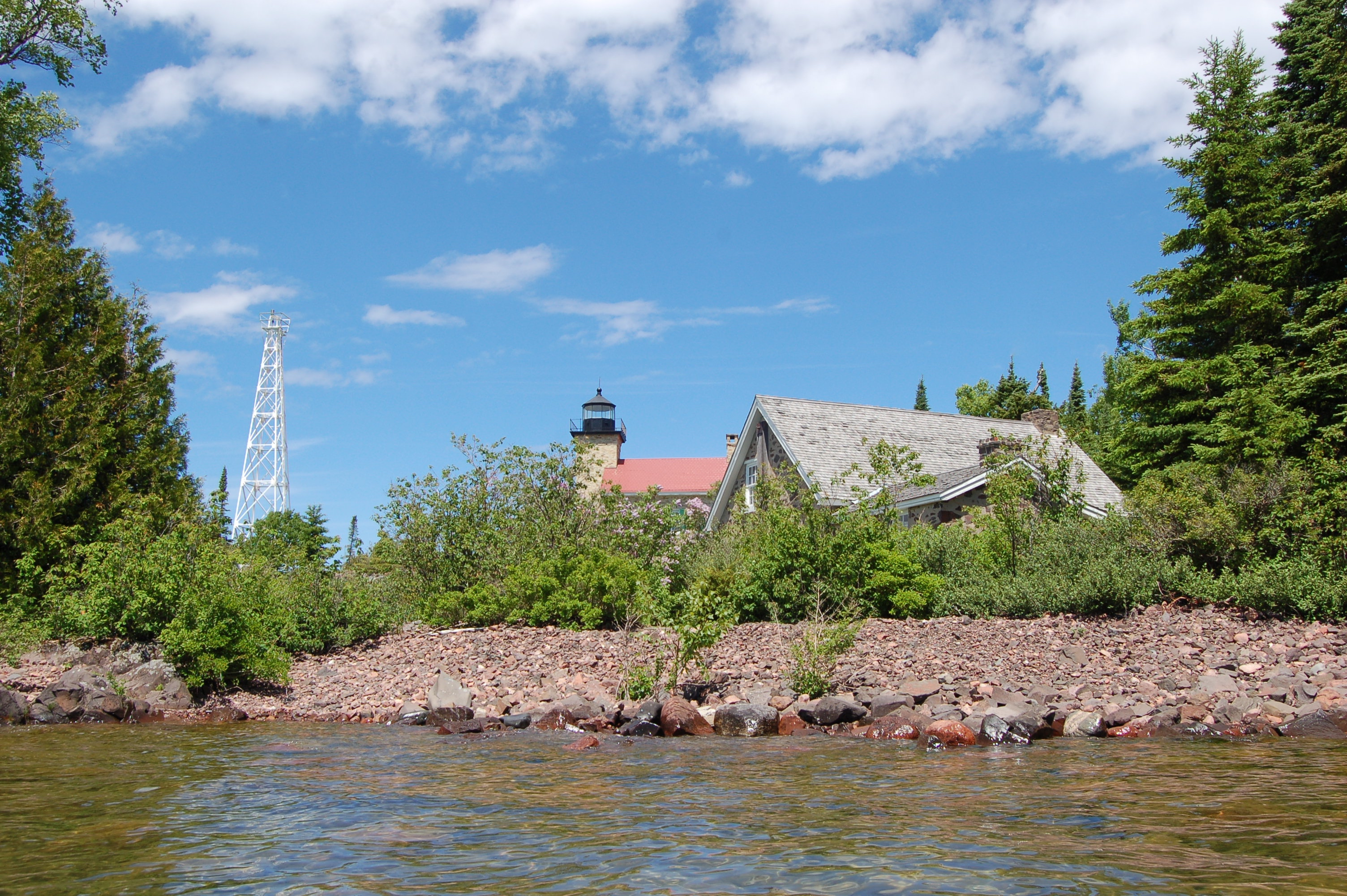 Copper Harbor Lighthouse Rocky Shoreline Lake Superior