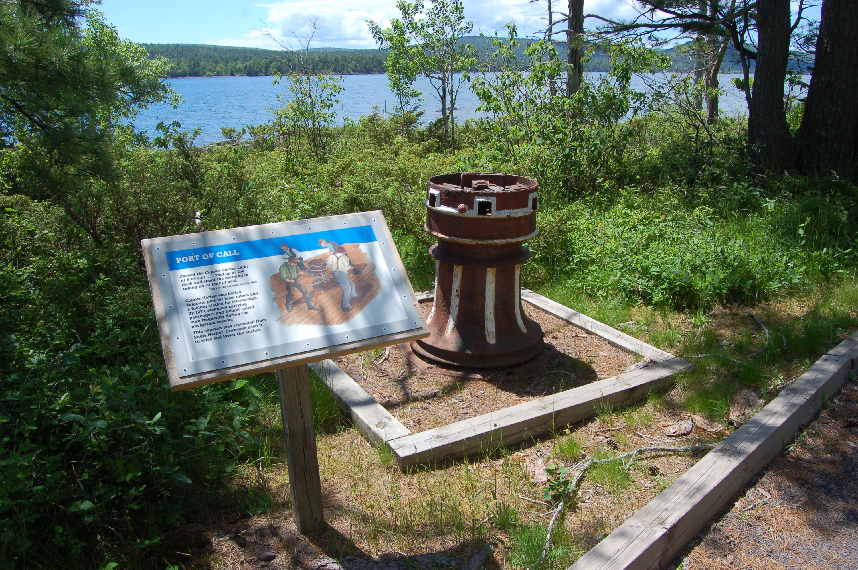 Copper Harbor Lighthouse Ship Relics