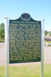 Douglass Houghton Michigan Marker Side 2 Eagle River