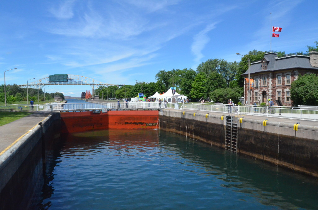 Soo Locks Boat Tours Canadian Locks Ontario