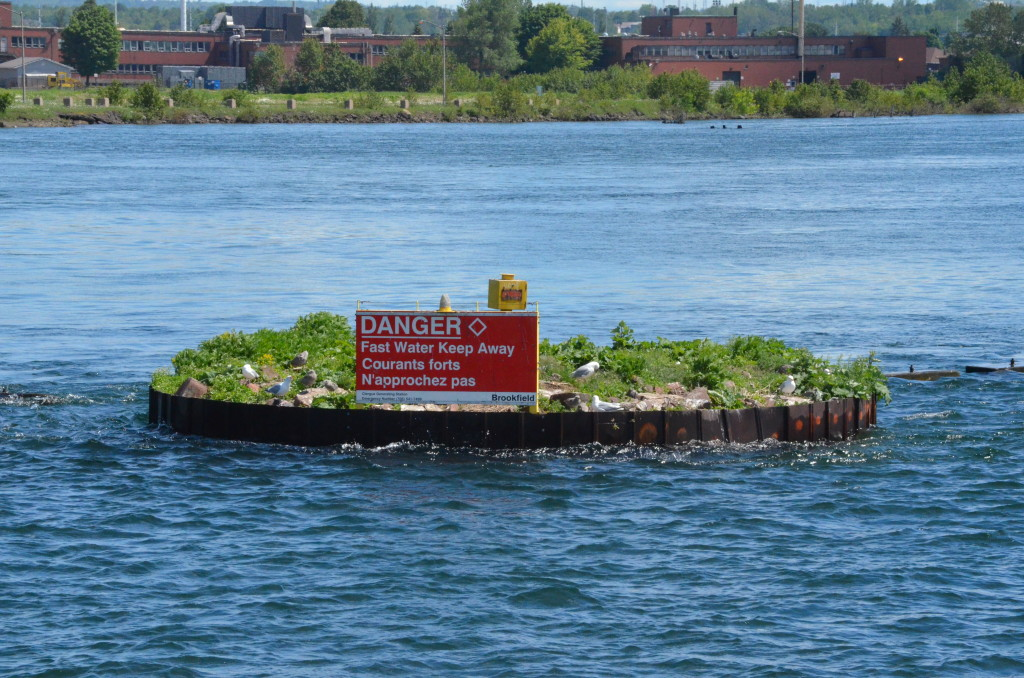 Soo Locks Boat Tours Danger Sign Hydroelectric Dam