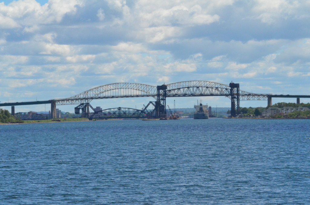 Soo Locks Boat Tours International Bridge Full View