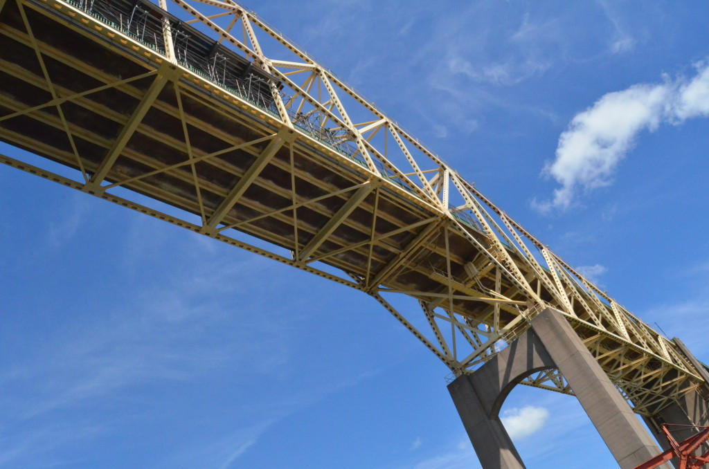 Soo Locks Boat Tours International Bridge Underside
