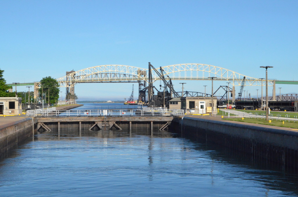 Soo Locks Boat Tours Raising In Lock