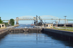 Soo Locks Boat Tours Raising In Lock
