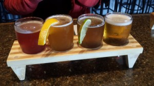 Harsens Island Brewery Michigan Beer Flight
