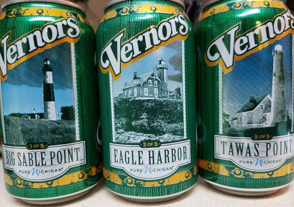 Michigan Lighthouses were featured on cans of Vernors Ginger Ale